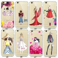 Wholesale Apple Shop Plastic - Luxury iphone Case Shopping Girl for Android LG SONY Samsung iphone 7 plus Case Customize All Models OPPO HUAWEI VIVO XiaoMi Free Shipping