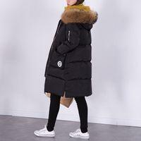 Wholesale Womens Long Winter Fur Coats - 100% Natural Raccoon Fur Collar 2016 Winter Jacket Women White Duck Down Coats Long Thick Parkas Womens Winter Jackets And Coats