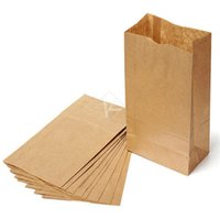Wholesale Fast Food Shop - 100 Pcs lot Eco-friend Recyclable Kraft Shopping Bags Fast food Paper Bags Packaging Bags for food Popcorn Hamburger Coffee Nut many size