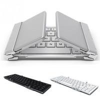 Wholesale Ipad Keypads - Intelligent Pocket Folding Keyboard Aluminum Bluetooth Foldable Universal Wireless Travel Keypad for iphone ipad PC tablet phone7 8 X
