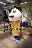 Wholesale Ice Cream Mascot Costumes - High-quality Real Pictures Deluxe Ice cream Mascot Costume Mascot Cartoon Character Costume Adult Size Christmas free shipping