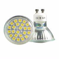 mr16 led bombillas calientes al por mayor-Bombilla LED Spot 4.8W GU10 MR16 E14 E27 B22 Lámparas de luz blanca cálida o diurna Energía ultra baja