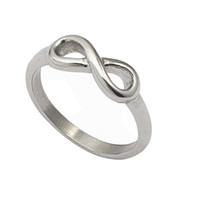 Infinity Symbol figure 8 Words San Valentino Wedding Fashion acciaio argento Squisita nobile bella Papillon per donne / ragazze