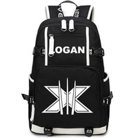 Wholesale Durable Fashion Backpack - Logan backpack Durable canvas daypack Super hero Wolverine schoolbag Movie role rucksack Sport school bag Outdoor day pack