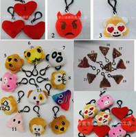 Wholesale Pooh Mobile - 5.5cm 2.16inch Monkey love Pig pooh dog panda Emoji plush Keychain emoji Stuffed Plush Doll Toy keyring for Mobile Pendant New 22 style