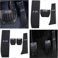 bmw pedalları toptan satış-Araba-Styling Yüksek kalite Alüminyum Alaşım Istirahat Gaz pedalı Fren Pedalı BMW X1 için M3 E39 E46 E87 E84 E90 E91 E92 E92 ...