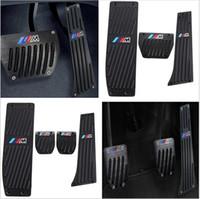 pédales de frein bmw achat en gros de-Car-Styling Haute qualité Alliage d'aluminium Reste Pédale de gaz Pédale de frein pour BMW X1 M3 E39 E46 E87 E84 E90 E91 E92