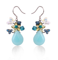 Wholesale Charms For Earings - Sky charm earrings boucle d'oreille femme marque high quality dangle earring for woman Seashells earings fashion jewelry DER1315BL