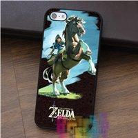 Wholesale Iphone Zelda - THE LEGEND OF ZELDA BREATH OF THE WILD fashion cell phone case for iphone 4 4s 5 5s 5c SE 6 6s 6 plus 6s plus 7 7 plus #qz457