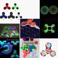 Wholesale Luminous Captain America Led Bluetooth Music Fidget Cube Spinner Finger Hand Spinner EDC Hand Tri Spinner EDC Plastic Toy For Decompression