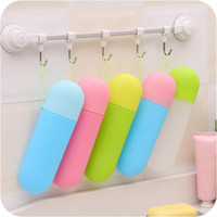 Wholesale Toothpaste Wholesale Supplies - Creative Outdoor Storage Toilet Collection Box Gift Toothbrush Box Toothbrush Toothpaste Cup Home Travelling Supplies Colorful