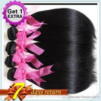Wholesale Get 26 Inch Hair Extensions - New Arrival Brazilian nature Straight Hair Extensions Mix 8budles 50g Get 1extra 18inch 8pcs100% Brazilian nature Hair Weft