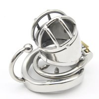 Wholesale Stainless Steel Chastity Device Shortest - short type cb6000s stainless steel cock cage with Anti-off cock ring chastity device penis lock adult sex toys for men