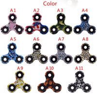 Wholesale Wholesale Camo Material - Camo Bat Style Shaped Figit Fidget Spinner Hand Spinner Module Anti-stress EDC ADHD Toys Super Light Shell Material