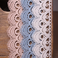 Wholesale Curtain Lace Wholesale - 8CM Width Europe Wave pattern Inelastic Embroidery Embroidery Trims,Curtain Tablecloth Slipcover Bridal DIY Clothing Accessories.