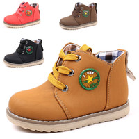 Wholesale Panda Children Shoes - Unique Panda Children Shoes PU Leather Waterproof Ankle Boots Kids Snow Boots Brand Girls Boys Rubber Boots Fashion Sneakers
