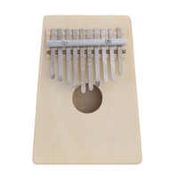 Wholesale Finger Instruments - Wholesale- 10 Key Mbira Finger Thumb Music Piano Hollow Pine Education Toy Musical Instrument for Music Lover and Beginner