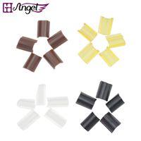 Wholesale Nail Chips - GH Angel High quality 100pcs lot Keratin glue Nail Tip Keratin U Shaped Fusion Chips Glue Nail Tip Keratin for hair extension
