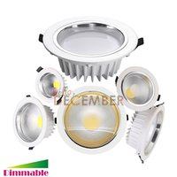 Dimmable 9W 12W 15W 20W 25W 30W Encastré COB LED Plafonniers 100LM / W Super Bright LED Plafonnier