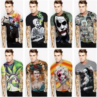 Wholesale Statue Printing - 2017 Fashion Men And Women 3D Creative Edison Clowns Statue Liberty Print T-shirt Street Wear Tee Plus Size Summer Short Sleeves O-neck Tops