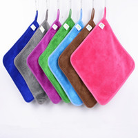 Wholesale Bamboo Floor Kitchen - Home kitchen cloths can hang bamboo fiber wash cloth is not contaminated with oil absorbent lint-free dish towel IC791