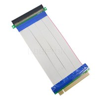 pci e 1x riser al por mayor-Al por mayor-PCI-E 16X a 16X adaptador de tarjeta vertical cable extensor PCI E 16 X Pci Express Flexible riser 20CM 1X 4X 8X 16X