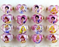 Wholesale Children Bag China - wholesale 500 Pcs Lot Mix New Party Gift Bag Fit Snow White Kid Resin Rings Children Lovely Present
