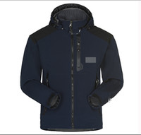 chaqueta de esqui al por mayor-Chaqueta Softshell transpirable impermeable al por mayor de los hombres de los hombres al aire libre, abrigos deportivos, esquí de montaña, a prueba de viento, invierno, outwear, chaqueta de cáscara suave