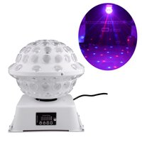 Wholesale Disco Ball Lights - DJ Stage & Studio Special Lighting Effects RGB Color Changing 360 Rotating LED Magic Lights System Equipment Disco Ball