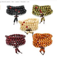 NEW 1PCS HOT 108 Sandalwood Buddhist Buddha Meditation 8mm Prayer Bead Mala Bracelet Necklace