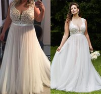 Wholesale Silk Tulle Bridal - A Line Tulle Wedding Bridal Gown Cheap Custom Made Sweep Train Wedding Gown Vintage Country Wedding Dresses Lace Plus Size