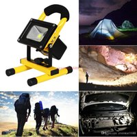 Wholesale Head lamps portable rechargeable led flood light W Waterproof IP65 camping lamp outdoor Spotlight Floodlight car charger