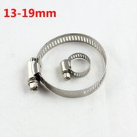 Wholesale Wholesale Stainless Steel Hose Clamps - Repairs Water, oil, gas, hydraulic hose clamps American Style Diameter 13mm to 19mm Stainless Steel Hose Clips Fastener