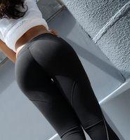 Wholesale Sexy S Curve - Mermaid Curve Women Pants Sexy Hip up Leggings Capris Fitness Sport Elastic Gym Leggings Running Calf-Length Yoga Pants