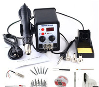 Wholesale Hot Welding Gun - YOUYUE 8586 AC 110V   220V 700W 2 in 1 SMD Rework Soldering Station Hot Air Gun Solder Iron With Free Gifts For Welding Repair+free shipping
