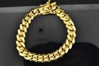 "Wholesale Heavy Yellow Gold Bracelet - 10K Super Solid Heavy Mens 11.40mm Yellow Gold Miami Cuban Franco Bracelet 8.5"""
