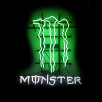 "Wholesale Drink Display - Monster Drink Neon Sign Lighting Real Glass Tube Custom Handmade Bar Pub Store Shop Advertising Display Neon Signs 15""X19"""