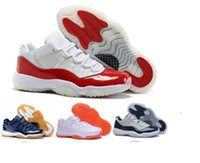 Wholesale Women Steel Toe Shoes - air retro 11 man kid Women asketball Shoes low Navy Gum Blue White Varsity Red Men's Sneakers sports shoes Athletics Boots