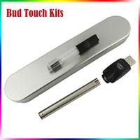 Wholesale electronic cigarette starter kit for sale - BUD Touch Kit CE3 Vape Pen Thread Clear Atomizer Cartridges mah Bud Touch O Pen Electronic Cigarettes Steel Box Starter Kit