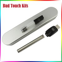 Wholesale Electronic Cigarette Boxed Starter Kits - BUD Touch Kit O pen CE3 Kit 510 Thread Clear Atomizer Bud Touch Battery Electronic Cigarettes Vaporizer E-cig Starter Kits Steel Box