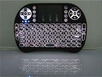 m8s s812 android tv kutusu toptan satış-Rii i8 Mini Kablosuz Arkadan Aydınlatmalı Klavye Fare Çoklu dokunmatik Arka Işık için MXQ Pro M8S Artı T95 S905 S812 Akıllı TV Android TV Kutusu PC