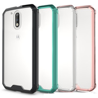 Wholesale G4 Tech - For MOTO G4 G4plus Case Air Cushion Tech Shell Soft TPU Bumper Clear Back Cover Transparent Hybrid Armor Cases For Motorola MOTO G4 G4plus