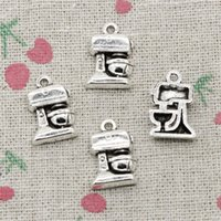 Wholesale 80pcs Charms coffee machine mm Antique Silver Pendant Zinc Alloy Jewelry DIY Hand Made Bracelet Necklace Fitting