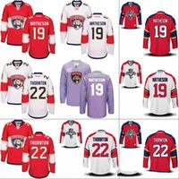 Florida Panthers Jersey Uomo 19 Michael Matheson 21 Vincent Trocheck 22 Shawn Thornton 100% cucito ricamo logos maglie hockey