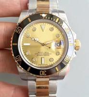 Wholesale Mens Watch Diamond Dive - Luxury Noob Factory V7 Real Wrapped 18k Gold Never Fade Watch Mens Automatic Eta 2836 Diamond Dial Men 116613 LN Dive Sport 116613LB Watches
