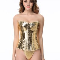 "Wholesale Waist Cincher Sets - Free shipping!! Women Waist Corset gold shapers set ""Golden Nugget"" Burlesque Corset sexy corselet Waist Cincher Slimming 8962"