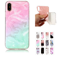 Wholesale Wholesale Stone Edging - For S8 Note 8 Iphone8 case Marble Stone Grain Soft TPU IMD Case cover Skin for iPhone 7 Plus 6G S7 Edge S6 J71