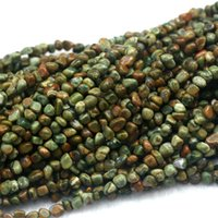 "Wholesale cross form - Discount Wholesale Natural Green Yellow Rhyolite Jasper Nugget Loose Beads Free Form Beads Fit Jewelry 15"" 03974"