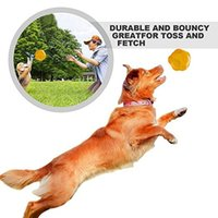 Wholesale Dog Ball Toy Squeak - Interactive Squeak Dog Toys Ball for Small Medium Dogs Flexible Natural Rubber Floating Throw Toy for Training Playing Fetch Fragralley
