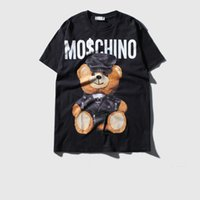 Wholesale Teddy Clothing Women - Wholesale- Summer fashion Bear Teddy Bear toy cotton casual hip hop women t shirts men's T-shirt clothes